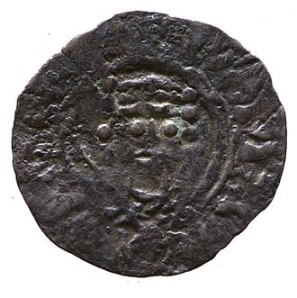 William II of England - Silver penny of William II showing a crowned head facing forward (1089), Yorkshire Museum, York