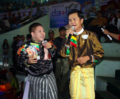 Singers at Myanmar Lethwei event 2018.png
