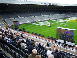 0a0073367af Sir Bobby's thanksgiving service shown at St James' Park