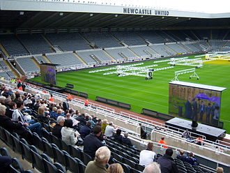 St James' Park - Sir Bobby's thanksgiving service shown at St James' Park
