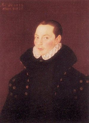 Francis Willoughby (1547–1596) - Portrait of Sir Francis Willoughby, 1573 by George Gower
