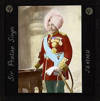 Pratap Singh of Jammu and Kashmir - Sir Pratap Singh (1848-1925), Jammu, India, ca.1890