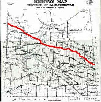 Saskatchewan Highway 16 - Image: Sk Hwy 16Map