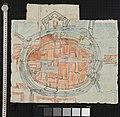 Skizze der niederländischen Stadt Groningen und ihrer Befestigungsanlagen, 16. Jahrhundert.jpg