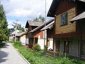 Slavske - A street in Slavske
