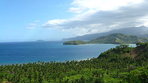 Davao Oriental - Eastern coast showing Pujada Bay
