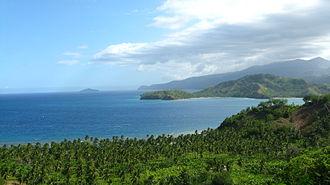 Mati, Davao Oriental - Pujada Bay and Sleeping Dinosaur Island, view from Badas Point
