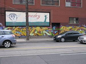 Graffiti in Toronto - Image: Sneaky Dees Graffiti
