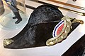Snutehatt tosnutet hatt til gallauniform for politibetjent 1854-1908 (Norwegian Police parade uniform bicorne hat) Justismuseet (National Museum of Justice) Trondheim Norway 2019 Filt Kokarde 03082.jpg