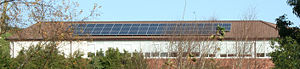 Array of Solar Panels, Saintfield High School,...