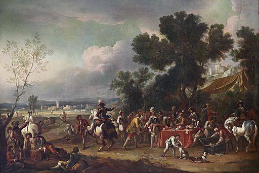 Soldaten in einer Landschaft Venetianisch 17Jh