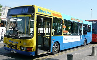 VDL Bus Chassis - Solent Blue Line Wright Cadet bodied DAF SB120 in Woking in May 2008