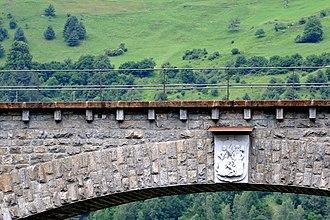 Solis Viaduct - Image: Soliser Viadukt neues Wappen 01 09