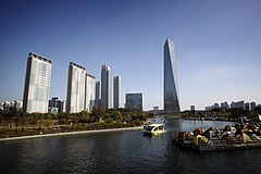 Songdo's central park and the NEATT, Incheon, South Korea.jpg