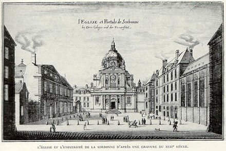 The Sorbonne, Paris, in a 17th-century engraving Sorbonne 17thc.jpg