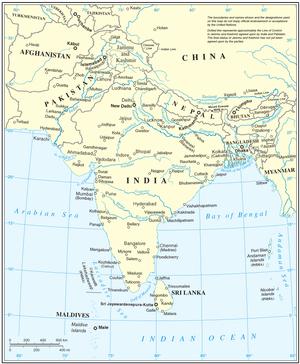 UN mediation of the Kashmir dispute - Image: South Asia UN