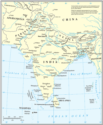 South Asia Wikipedia - Asia pacific map with country names