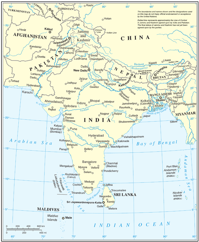 united nations cartographic map of south asia15 however the united nations