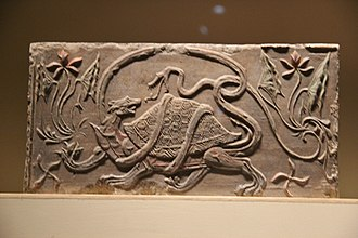 Black Tortoise - Black Tortoise with Snake. Southern Dynasties Brick Relief 11