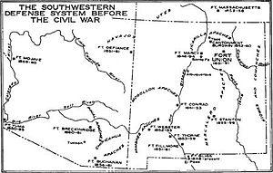 Jicarilla Apache - Southwestern Defense System before the Civil War. Source:National Park Service