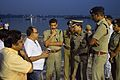 Sovan Chatterjee and Surajit Kar Purkayastha Discussing Idol Immersion Facilities in River Hooghly - Baja Kadamtala Ghat - Kolkata 2015-10-22 6685.JPG