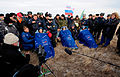 Soyuz TMA-19 crewmembers after the landing.jpg