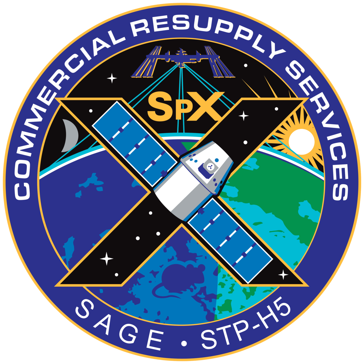spacex crs 4 logo - photo #2