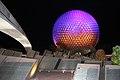Spaceship Earth at Night (32426414644).jpg