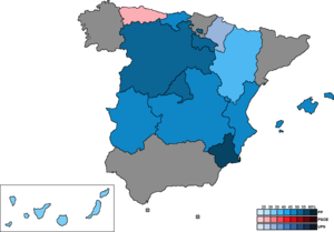 Spanish regional elections, 2011 - Image: Spain Region Map Regional 2011