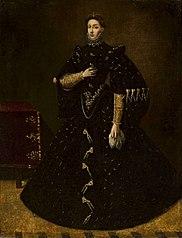 Lady in black.