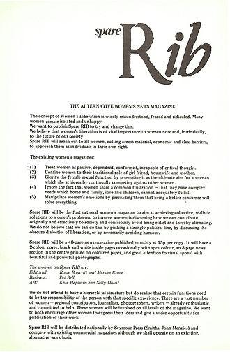 Spare Rib - Image: Spare rib manifesto