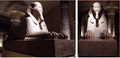 Sphinx of Ramses II at the great temple of Ptah in Memphis 1200 BC.png