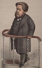 Caricature of Spurgeon from Vanity fair (1870)