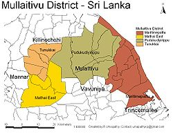 DS and GN Divisions of Mullaitivu District, 2006