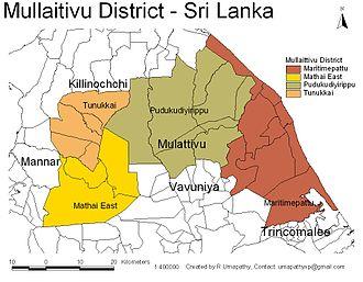 Mullaitivu District - Image: Sri Lanka Mullaitivu District