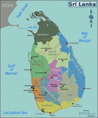 Carte Cote Ouest Sri Lanka.Sri Lanka Wikivoyage Le Guide De Voyage Et De Tourisme