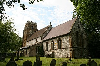 Ludborough village in the United Kingdom
