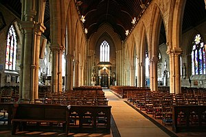 St Wulfram's Church, Grantham - The nave of St Wulfram's, looking west