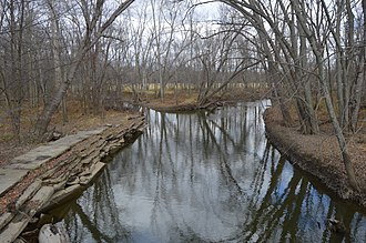 St. Joseph River (Maumee River tributary) - Near the Ohio Turnpike in Bridgewater Township
