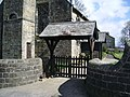 St Ambrose Church, Grindleton, Lych gate - geograph.org.uk - 759814.jpg