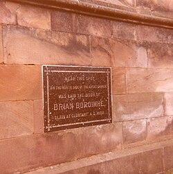 Photo of Brian Boru black plaque