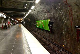 Stadshagen metro station - Image: Stadshagen Stockholms tunnelbana 03