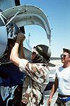 Staff Sgt. Mack Butler - 33rd AMU - F-16 Fighting Falcon - Exercise Shadow Hawk '87 - Bright Star '87 - Azarq AB.jpg