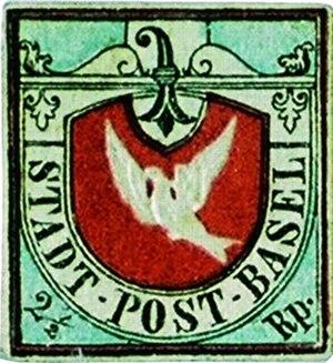 "Melchior Berri - The stamp ""Basel Dove"""