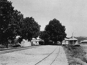 Grandchester railway station - Grandchester railway station, circa 1915