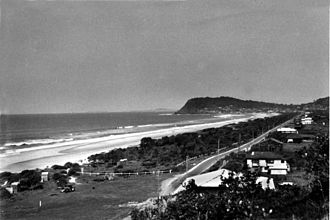 Burleigh Heads, Queensland - View of Burleigh Heads c.1940