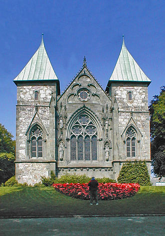 Stavanger - Stavanger domkirke, the oldest cathedral in Norway.
