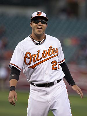 Steve Pearce (baseball) - Pearce with the Orioles in 2015