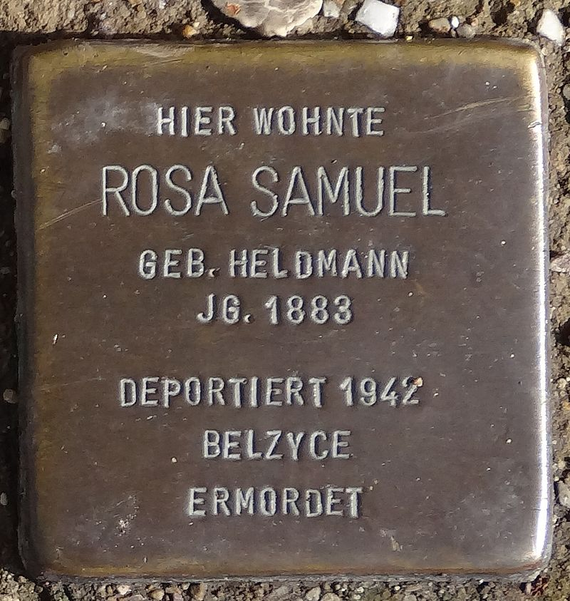 Stolperstein Arnstadt Karl-Marien-Straße 17-Rosa Samuel.JPG