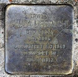 Photo of Paula Liebrecht brass plaque